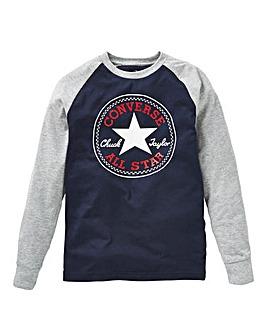 f45b88a87 Converse Boys Chuck Patch Raglan T-Shirt