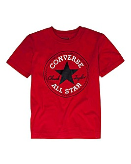 Converse Boys Red Chuck Patch T-Shirt