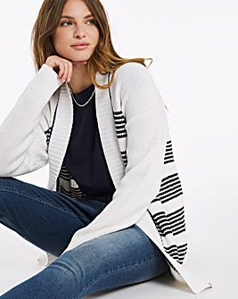 Julipa Stripe Cotton Mix Cardigan