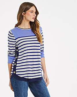 Julipa Stripe Jumper with Buttons