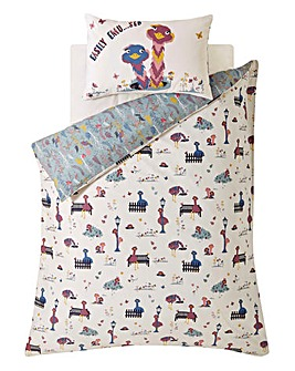 Fat Face Elsie Emu Single Reversible Duvet