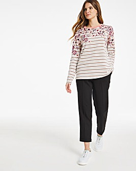 Julipa Leisure Stripe and Floral Top