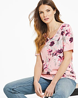 Julipa Short Sleeve V Neck Jersey Top