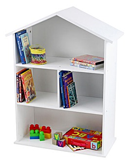 House Bookcase with 2 Fixed Shelves