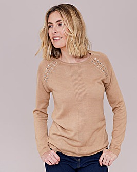 Julipa Super Soft Jumper with Eyelet Detail