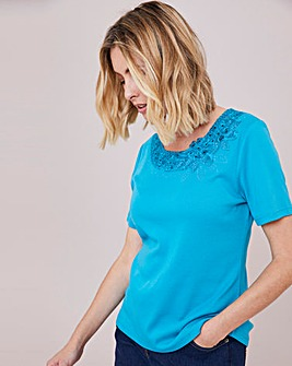 Julipa Embellished Round Neck T-Shirt