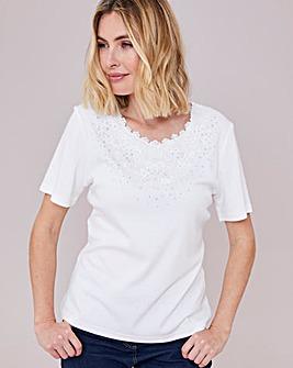 Julipa Embellished Round NeckT-Shirt