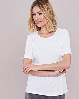 Julipa Lace Yoke T-Shirt