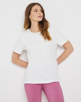 Julipa Lace Yoke T-Shirt