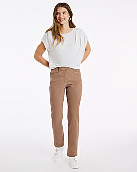 Julipa Stretch Cotton Ankle Jean Mocha