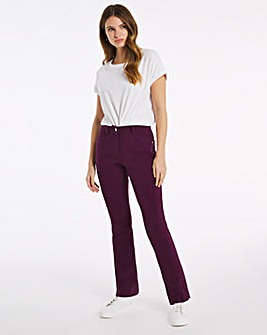 Julipa Stretch Cotton Twill Jean Plum