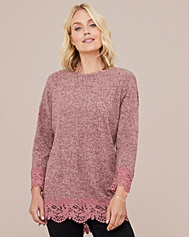 Julipa Soft Touch Tunic with Lace Trim