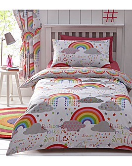 Clouds & Rainbows Duvet Cover Set