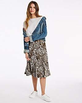 Julipa Animal Print Ponte Skirt