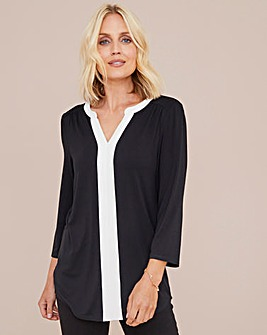 Julipa Jersey Tunic with Pleat Front
