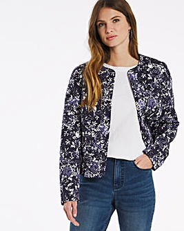 Julipa Print Lined Quilted Jacket