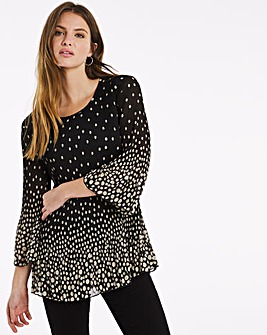 Julipa Border Spot Pleat Tunic