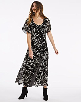 Julipa Chiffon Fit and Flare Dress