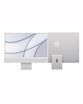 Apple iMac with Retina 4.5K Display, 256GB, M1 chip and 8 core CPU - Silver