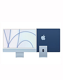 Apple iMac with Retina 4.5K Display, 256GB, M1 chip and 8 core CPU - Blue