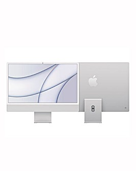 Apple iMac with Retina 4.5K Display, 512GB, M1 chip and 8 core CPU - Silver