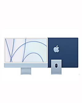 Apple iMac with Retina 4.5K Display, 512GB, M1 chip and 8 core CPU - Blue