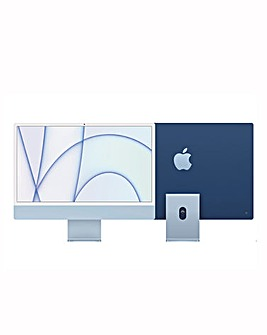 Apple iMac with Retina 4.5K Display, 256GB, M1 chip and 8/7 core CPU - Blue