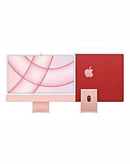 Apple iMac with Retina 4.5K Display, 256GB, M1 chip and 8/7 core CPU - Pink