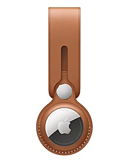 Apple AirTag Leather Loop - Saddle Brown