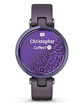 Garmin Lily Midnight Orchid with Deep Orchid Silicone Band