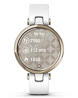 Garmin Lily Cream Gold with White Silicone Band