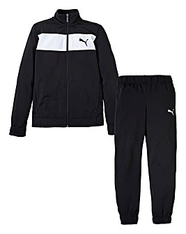 Puma Boys Black Poly Tracksuit