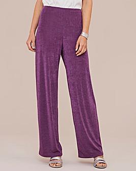 Julipa Wide Leg Slinky Trousers Regular