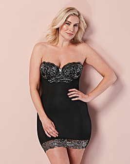 Ella Lace Black Sparkle Multiway Slip