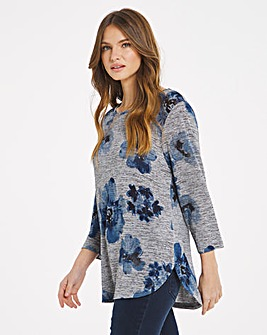 Julipa Printed Floral Jersey Top