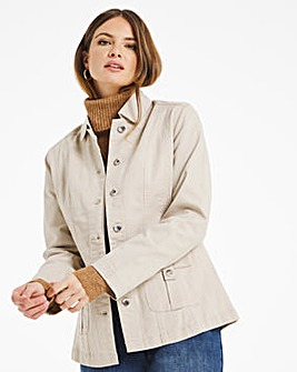 Julipa Twill Jacket with Pocket Detail