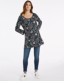Julipa Linear Floral Jersey Tunic