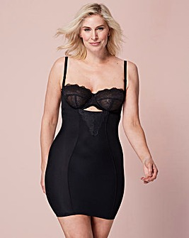 Ella Lace Firm Control Black Slip
