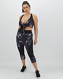 Wolf and Whistle Print Panel Legging