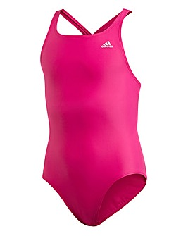 adidas Girls Solid Swimsuit