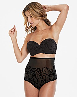 Joanna Hope Flock Black Padded Underwired Multiway Bra