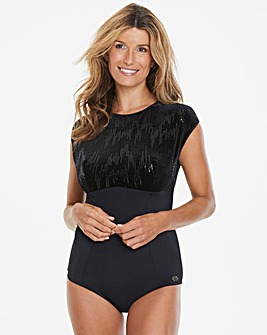 Joanna Hope Velvet Sequin Control Body