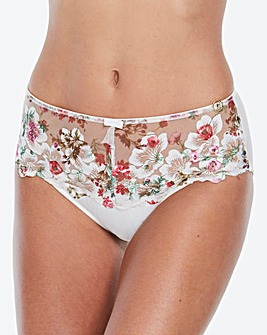 Joanna Hope Ivory Embroidered Midi Brief