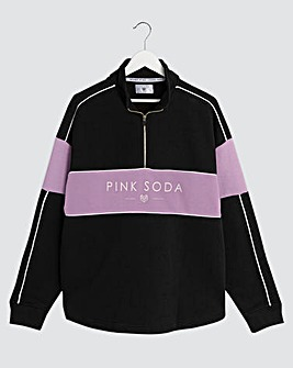 Pink Soda Breeze Quarter Zip Sweat