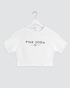 Pink Soda Aria Crop T-Shirt