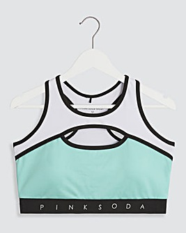 Pink Soda Lagoon Sports Bra