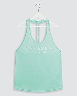 Pink Soda Lagoon Tape Tank Top