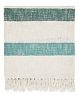 Joules Lost Garden Stripe Throw