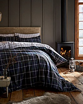 Brushed Cotton Tartan Check Duvet Set