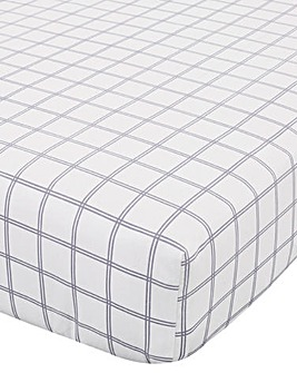 Brushed Cotton Tartan Check Fitted Sheet